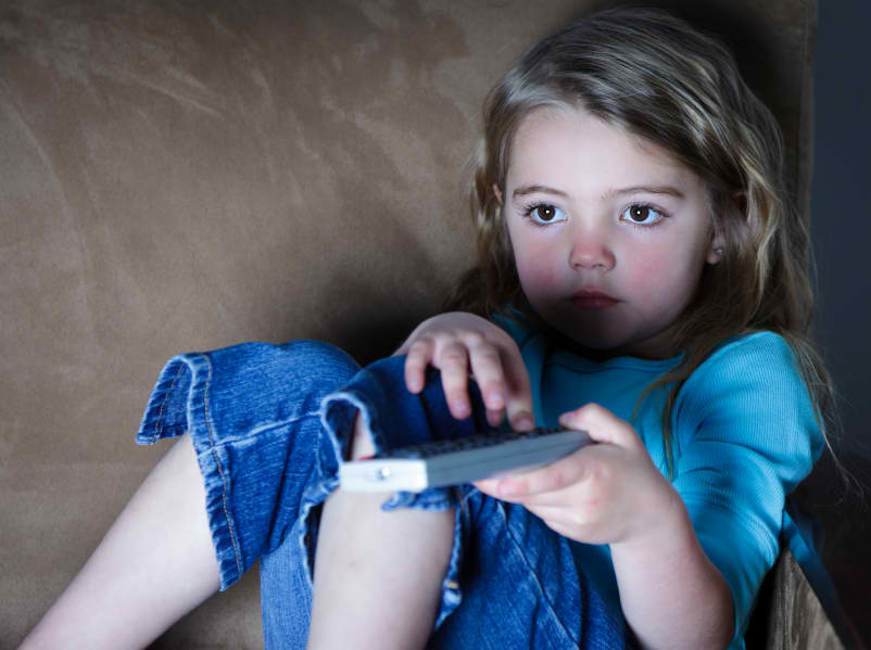 Girl-with-remote
